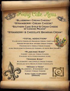 king cake menu 2018