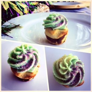 mardi gras themed dessert
