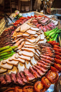 meat display2 wedding reception caterer