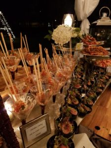Chicken Satay set on Clear Noodle Salad Wedding Catering