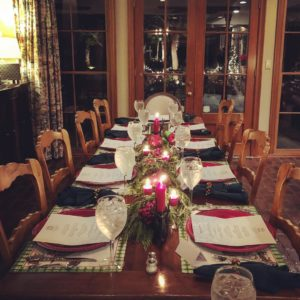 Christmas Dinner Private Chef Table