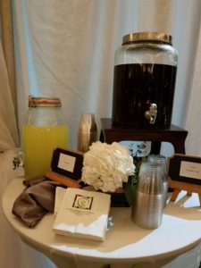 Drink Station at Rehearsal Dinner Event Catering
