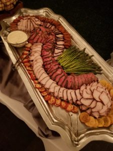 Edible Art Display Carved Meat Wedding Rehearsal Catering Louisiana