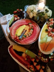 Fresh Fruit Display Wedding Rehearsal Dinner