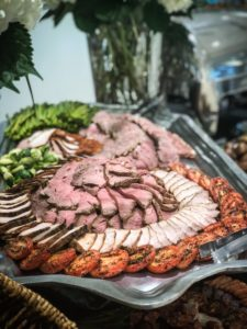 Grand Opening Event Catering Sliced Meat Displays