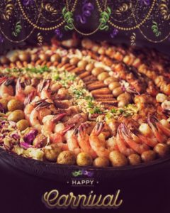 Mardi Gras Ball Catering Trays