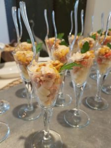 Crawfish parfait Appetizer for an Engagement Party