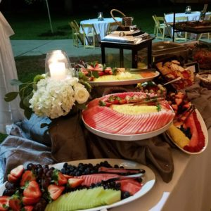 fresh fruit display rehearsal dinner catering baton rouge