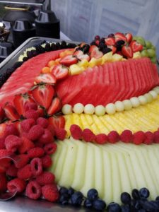 Sliced Fresh Fruit Platter - Wedding Reception