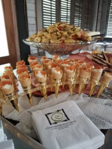 Smoked Salmon Cornets Catering Display Wedding Reception
