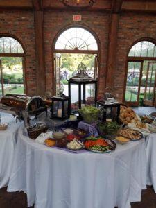 LSU Rural Life Museum Wedding Catering Display