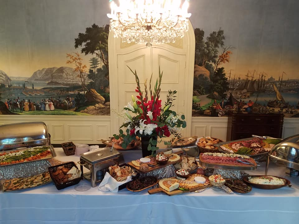 Catering Spread at the AIA 2019 Rose Awards Gala
