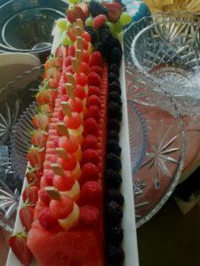 artistic fresh fruit display