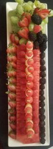 artistic fresh fruit display by Culinary Productions catering