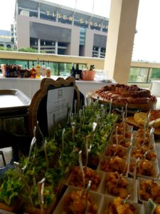 small cocktail party catering at tiger stadium in baton rouge