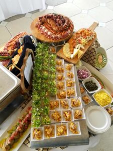 small party catering display at the LSU foundation in Baton Rouge