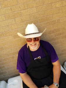 Chef William Wells Ready for a day of tailgate catering in Texas LSU Away Game