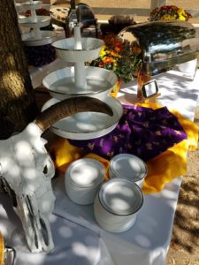 Getting Set up for todays professional tailgate catering LSU at Texas