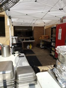 Pro Tailgate Caterers Set up at UT Austin LSU Away Game