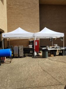 Tailgate Catering Cook and Fry Station