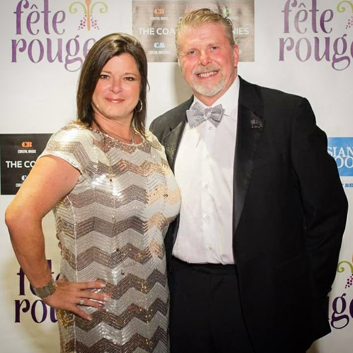 Chef Wells and Jennifer Wells at Fete Rouge