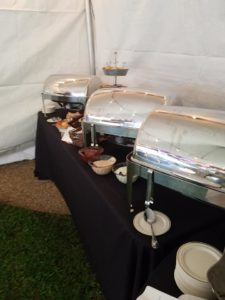 Inside the Tailgate Catering Tent