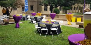 LSU Tailgate Event for WAFB Tables Rentals