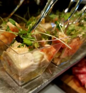 Crawfish Parfaits Wedding Catering at Shaw Center