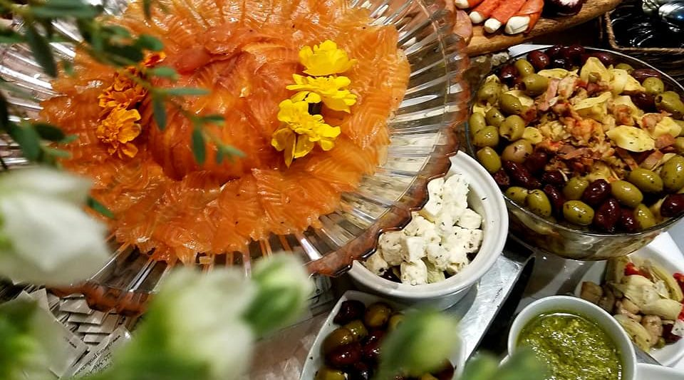 Smoked Salmon Charcuterie Display Wedding Caterer