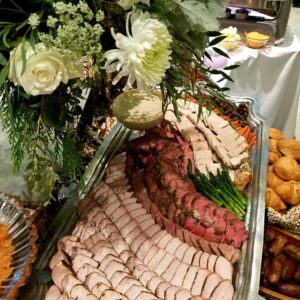 Wedding Reception Catering Carved Meat Tray Display