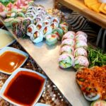 Assorted Sushi rolls & dipping sauces - Catering Baton Rouge