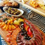 Beef tenderloin with roasted vegetables & fine cheese board Birthday Party Catering in Baton Rouge