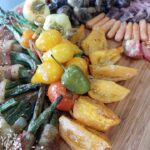 Roasted Vegetables accompanied by Charcuterie