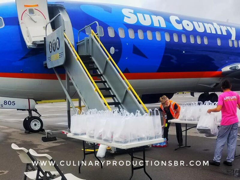 Catering a Charter for Sun Country Flight