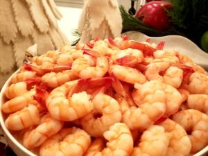 Cajun Shrimp in Holiday Party Catering Display