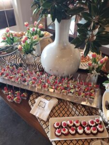 Individual desserts and parfaits for realtor reception