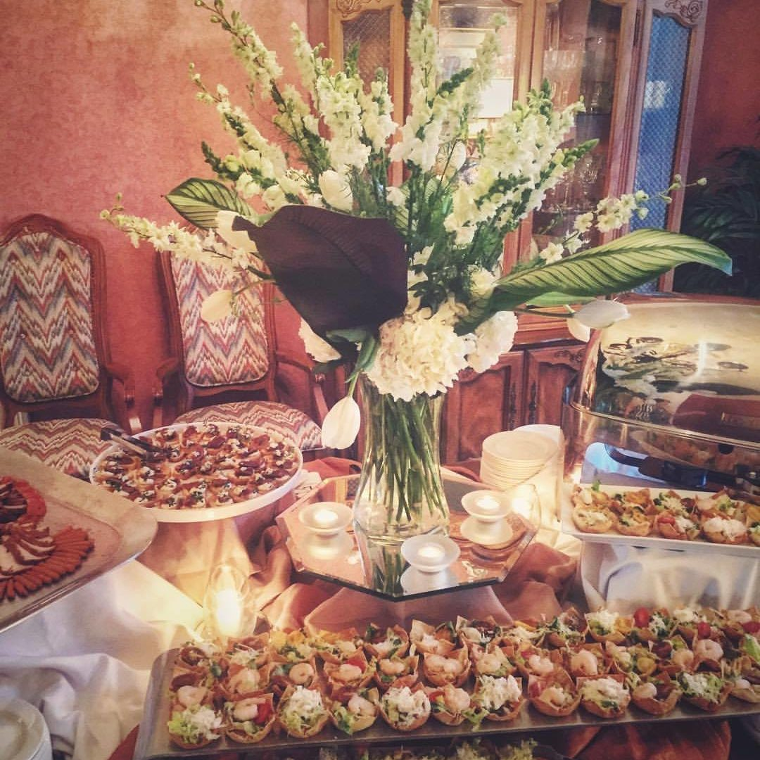 private event catering display