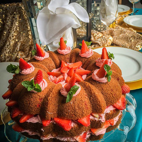 Catering Desserts - Strawberry Cake